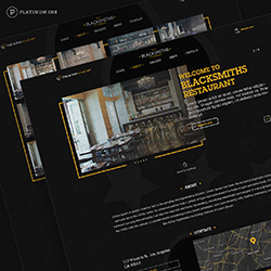 Blacksmiths web site mockup
