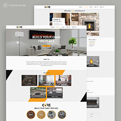Core fireplaces web site mockup